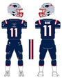 Patriots color uniform
