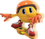 Pacster Riding his Hoverboard (Pac-Man and the Ghostly Adventures 2 Official Render)