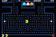 Pac-Man Collection - Pac-Man (GBA) (scroll) (NO$GBA v2.8d)