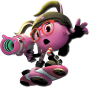 Cylindria Riding her Hoverboard (Pac-Man and the Ghostly Adventures 2 Official Render)