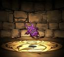 紫色の鬼神面