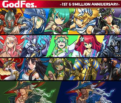 God festival 1th 9m list