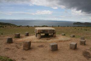Altar sacrificios Isla del Sol