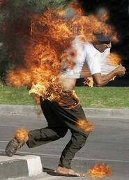Correr en llamas