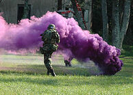 Purple smoke grenade