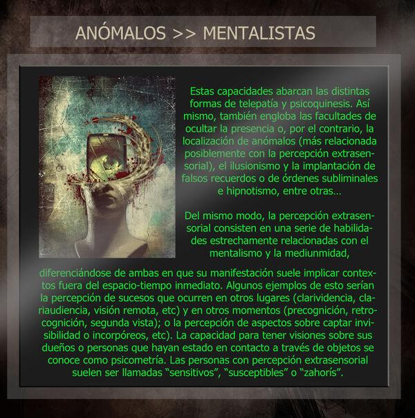 ANÓMALOS mentalistas