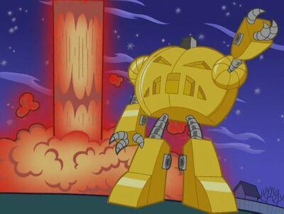 Calabaza Robot de Oro