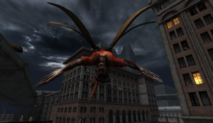 Winged Demon in Dead City