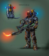 Concept art of Flamer and Flamethrower