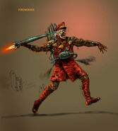 Fire-worker concept art