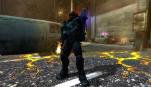 Cop Flamer in Riot