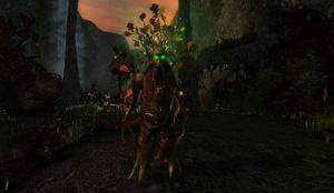Green Walking Tree in Haunted Valley