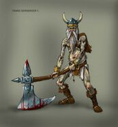 Concept art of Viking Berserker