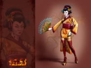 Concept art of Geisha