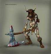 Viking With Bull Head Concept Art