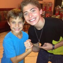 Ryan Ochoa with a fan