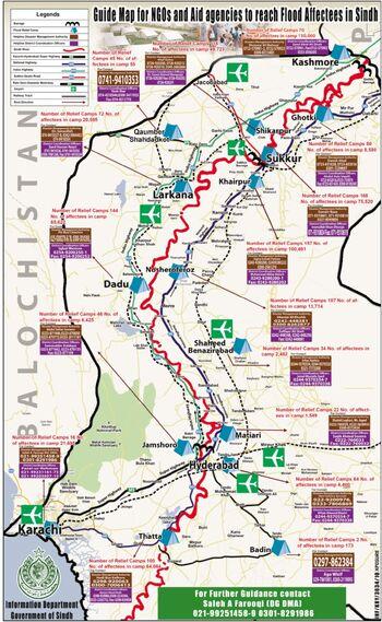 Relief Sindh map