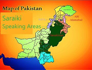 Saraiki language map
