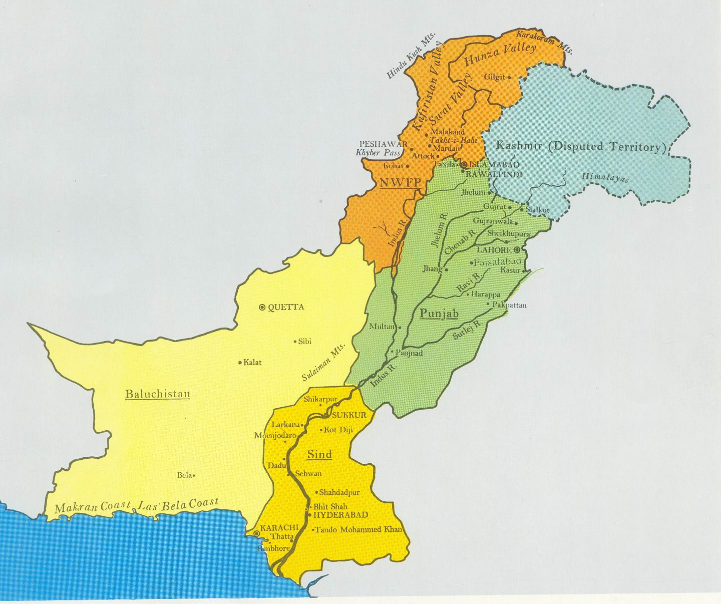 Image Pakistan Provinces Map Jpg Pakistani Wiki FANDOM - Map of pakistan