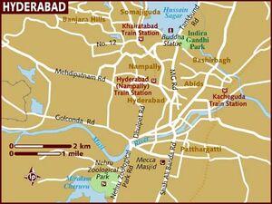 Hyderabad Sindh Map