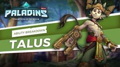 Paladins - Ability Breakdown - Talus, of the Ska'drin