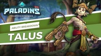 Paladins - Ability Breakdown - Talus, of the Ska'drin