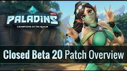 Paladins - Closed Beta 20 Patch Overview