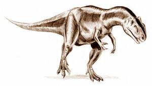 Allosaurus BW