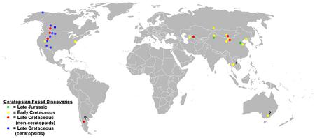 Ceratopsian map
