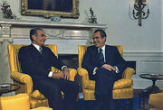 59 Mohammad Reza Shah Pahlavi and Richard Nixon at Oval Office 1973