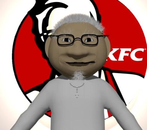 KFC COLONEL SANDERS - 3D STREET WEAR HOODIE - WeSellAnything.Co