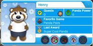 Henry's Playercard