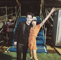 Halsey with brendon at p!atd concert