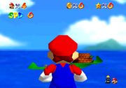 Mario looking from a PU