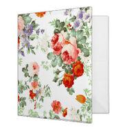 Romantic red orange retro girly roses floral vinyl binders-r4d977b7472a7444c9b0a4e90ac695787 xz8m1 8byvr 324