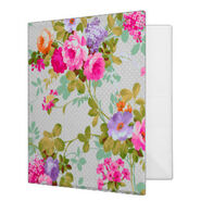 Vintage elegant neon pink roses polka dots pattern 3 ring binder-rae25b0ca51fd401fac3826e675c9da7e xz8m1 8byvr 324