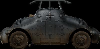 Panzerspähwagen Skoda PA-II (Fu)