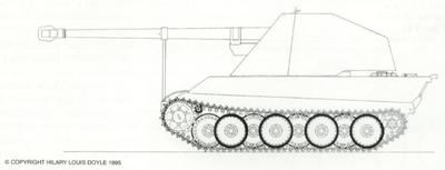 Mittelerer Waffenträger auf Panther V2, September 21st, 1944 12,8cm