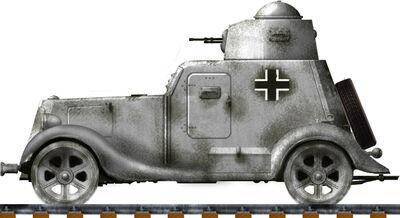 Panzerspähwagen BA 202(r) Schienenpanzer