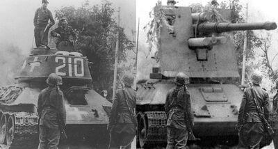 -fake- T-34 mit 8,8cm Flak 18