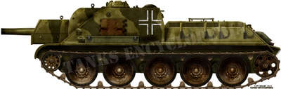Captured SU-122(r)