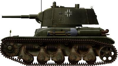 Panzerkampfwagen 35R 731(f) mit Panzerkampfwagen T-26C 740(r) turm