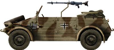 Kubelwagen mit MG34