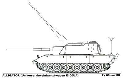 -fake- Universalabwehrkampfwagen E-100UA Alligator