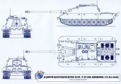 -fake- Jagdpanzer E-100 Krokodil 15cm