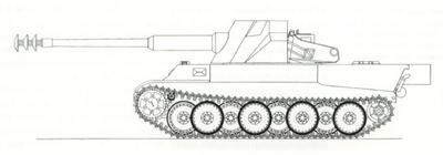 12,8cm Skorpion mit Panther Bauteilen April 2nd, 1943