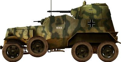Panzerspähwagen BA 203(r) with Panzerkampfwagen II Armament