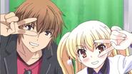 Anime cap Kouichi and Miu - cute