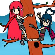 Ninjas on a tree
