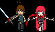 Ninja couple mad